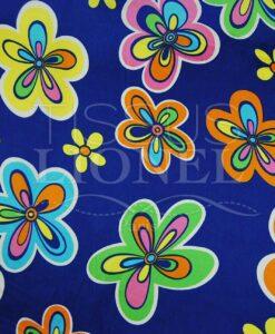 карнавальные красочные цветы на синем фоне