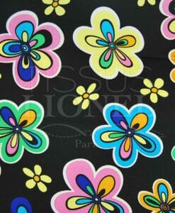 carnevale fiori colorati su sfondo nero
