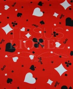 white and black carnival games on red background