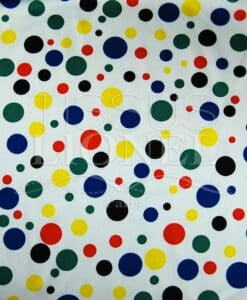 carnival multicolored dots on white background