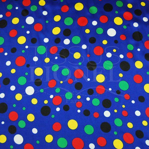 carnaval points multicouleurs sur fond bleu