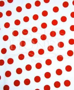 carnaval points rouge sur fond blanc