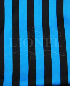 Carnaval blauwe en zwarte strepen