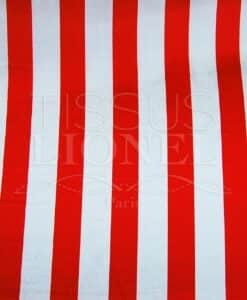 Carnival red and white stripes
