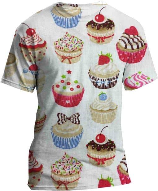 Coton blanc motif Cupcake