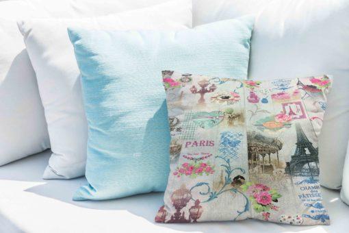 Tissu coton motif imprimé Paris Saint Honoré