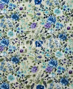 estampado de flores de algodón 005