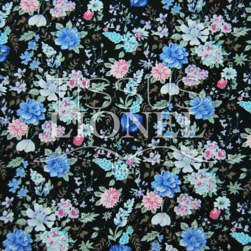 coton imprimé fleurs 008