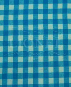 printed blue gingham cotton 009