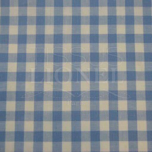 coton imprimé vichy bleu ciel 011