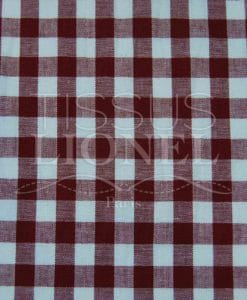 coton imprimé vichy bordeaux 026