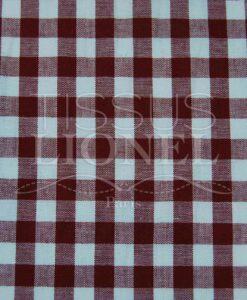 burgundy cotton gingham print 026