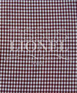 burgundy cotton gingham print 027