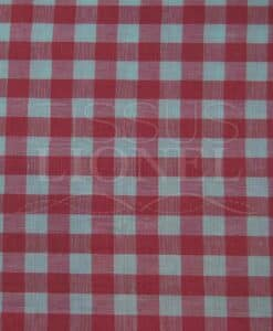 cotton print fuchsia gingham 023