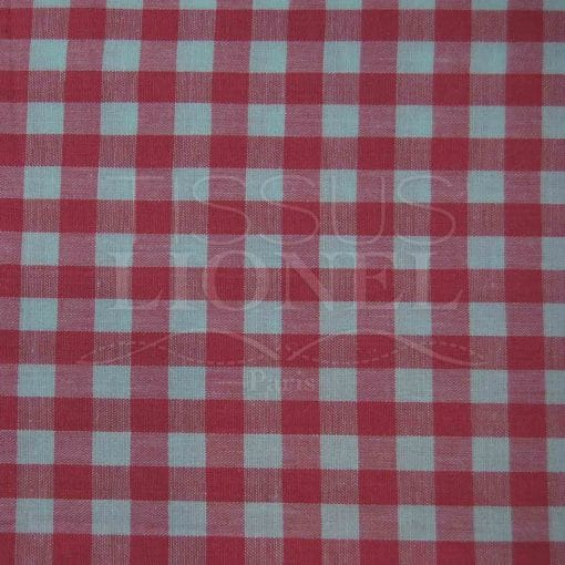 coton imprimé vichy fushia 023