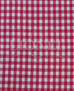 cotton print fuchsia gingham 025