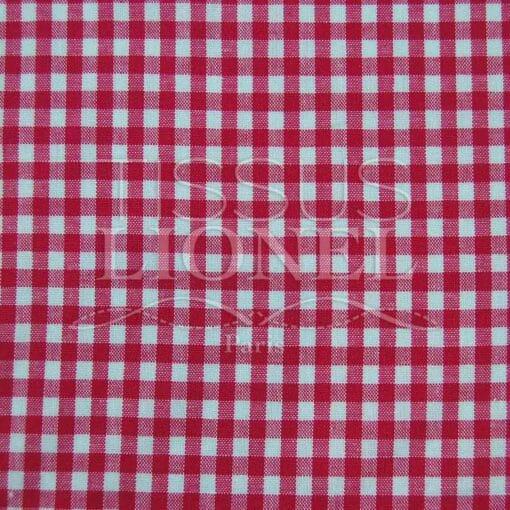 coton imprimé vichy fushia 025