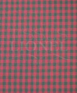 printed cotton gingham fuchsia and green 018