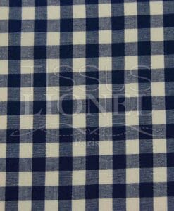 printed navy cotton gingham 012