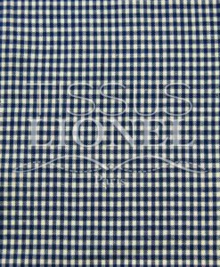 printed navy cotton gingham 014