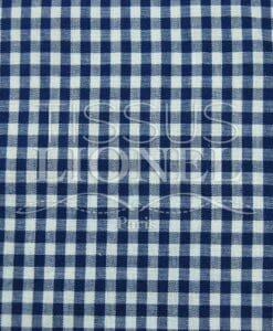 printed navy cotton gingham 015