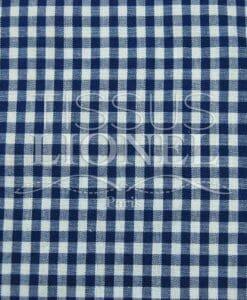 coton imprimé vichy marine 015
