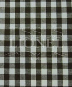 printed gingham brown cotton 029