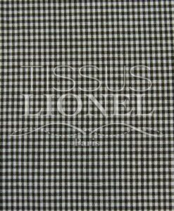 printed gingham brown cotton 030