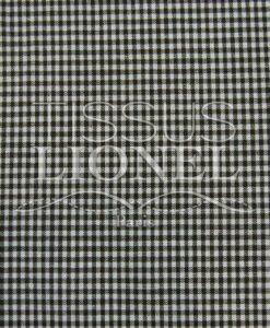 coton imprimé vichy marron 030