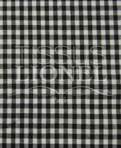 printed gingham brown cotton 031