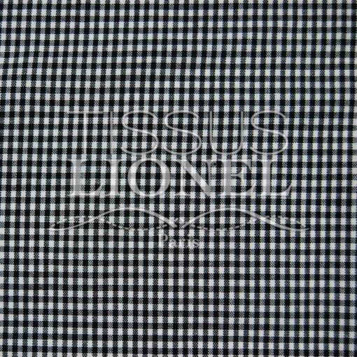coton imprimé vichy noir 032