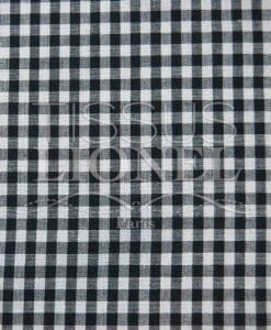 black gingham print cotton 033
