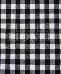 black gingham print cotton 034