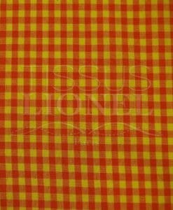 printed cotton gingham orange and yellow 021