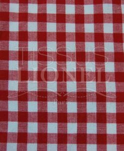 red gingham print cotton 024