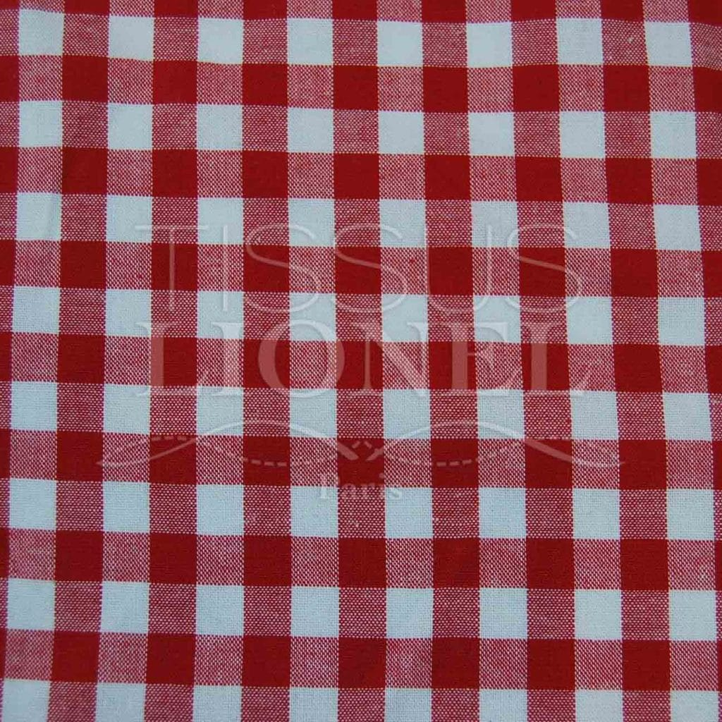 Cotton printed gingham