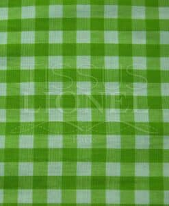 printed cotton gingham green 001
