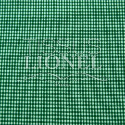 coton imprimé vichy vert 003