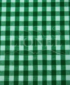 printed cotton gingham green 004