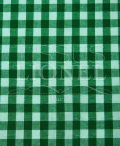 coton imprimé vichy vert 004