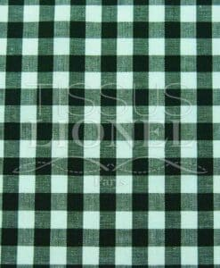 Gingham dark green printed cotton 005