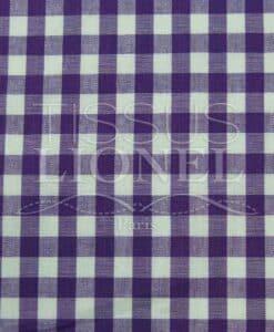 coton imprimé vichy violet 028