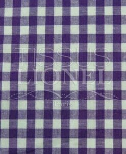 purple gingham print cotton 028