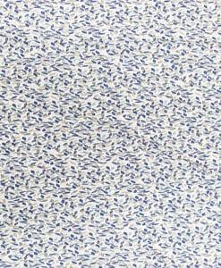 Coton imprimé fleuris ton bleu