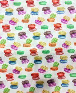 Coton imprimé macaron
