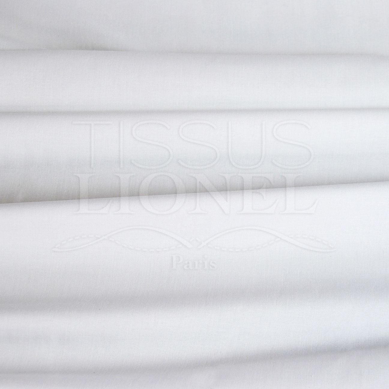 coton uni blanc tissus lionel. Black Bedroom Furniture Sets. Home Design Ideas