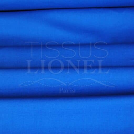 coton uni bleu royal