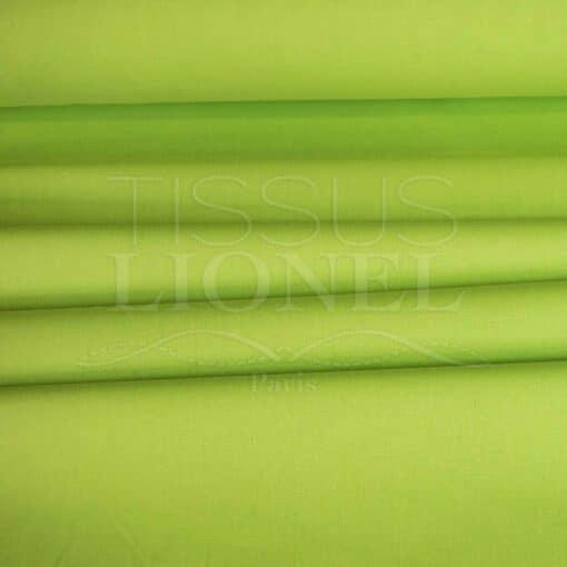 coton uni vert anis