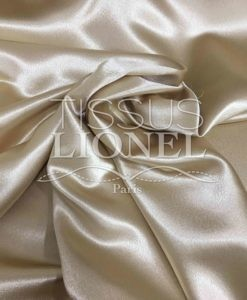 Crepe Satin Beige Gold