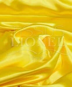 Crêpe envers satin jaune vif